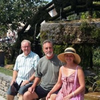 David James, Errol and Susie enjoy Isle sur la Sorge on our Wednesday afternoon free time!