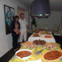 Olivier and Gina our chef and sous chef
